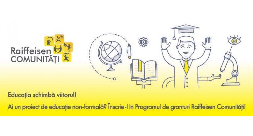 Banking responsabil și Educaţie Program de granturi. Câștigătorii Raiffeisen Comunități, ediția 2017