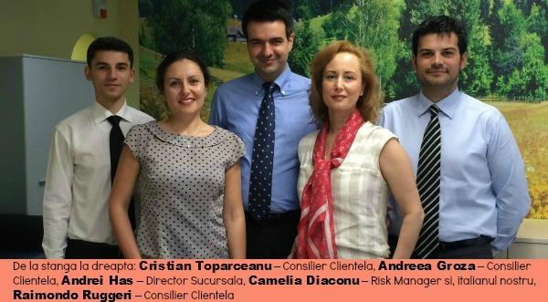 Cine sunt cei cinci bancheri de la agentia Banca Transilvania din Italia si ce spun ei despre noua experienta profesionala