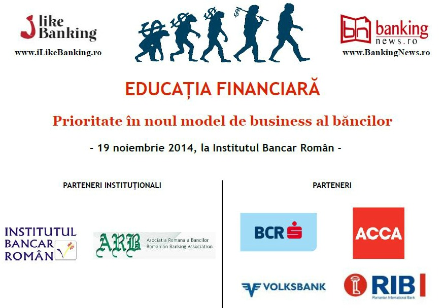 "Va asteptam astazi la seminarul ""Educatia financiara – Prioritate in noul model de business al bancilor"""
