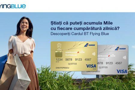 Banca Transilvania, in parteneriat cu AIR FRANCE KLM si TAROM, a lansat Cardul BT Flying Blue