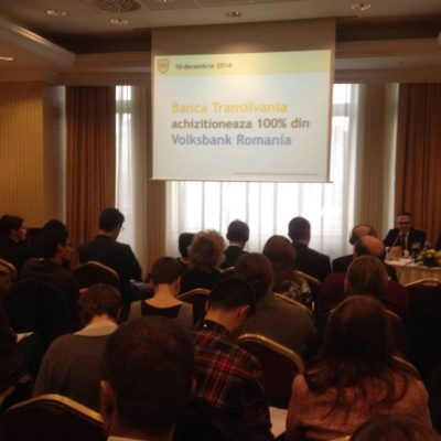 Banca Transilvania a anuntat oficial preluarea Volksbank