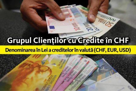 Clientii nemultumiti au format Grupul Clientilor cu Credite in CHF si au lansat o petitie online pentru denominarea creditelor in lei