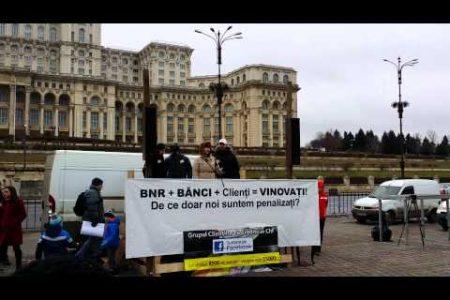 Duminica, Grupul Clientilor cu Credite in CHF organizeaza un miting in Piata Victoriei