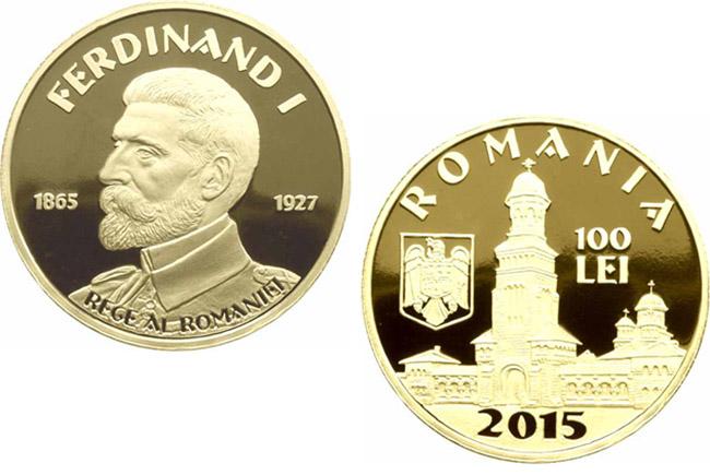 BNR a lansat monede de 100 de lei, 10 lei si un leu, dedicate nasterii regelui Ferdinand. Cat costa setul aniversar