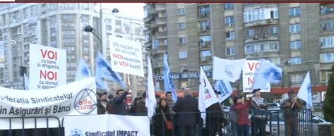 Angajatii BRD au protestat in strada. Cerintele angajatilor VS. raspunsul conducerii