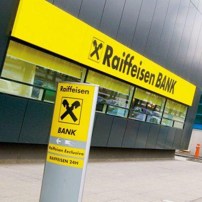 Raiffeisen Bank a obtinut un proft in crestere cu 6%, in primele noua luni, de 86 milioane euro