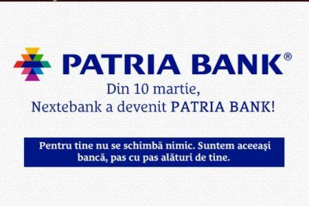 Rebranding in piaţa bancară: Nextebank şi-a schimbat denumirea în Patria Bank