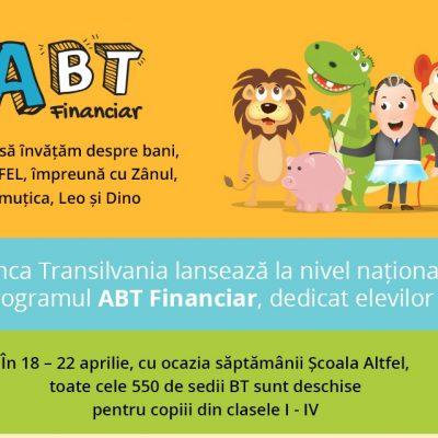 Banca Transilvania a lansat programul de educație financiară destinat elevilor, ABT Financiar