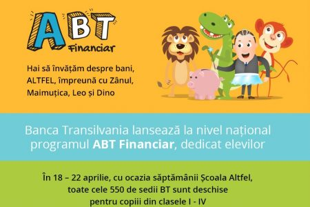 Banca Transilvania a lansat programul de educație financiară destinat elevilor, ABT Financiar