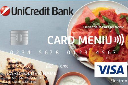 UniCredit Bank, prima bancă ce lansează cardul pentru acordarea tichetelor de masă în format electronic