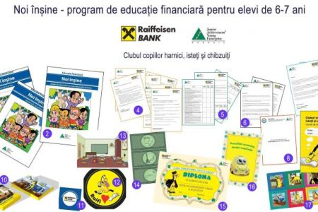 Patru ani de educatie financiara prin parteneriatul Raiffeisen Bank si Junior Achievement Romania