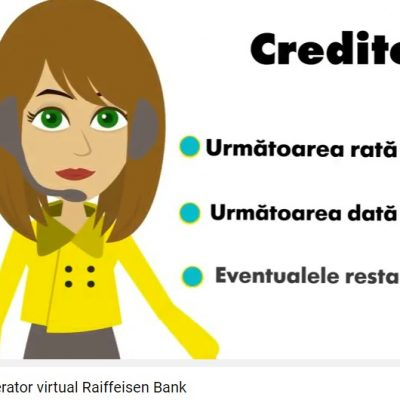 Raiffeisen Bank are un operator virtual in Call Center, Ana