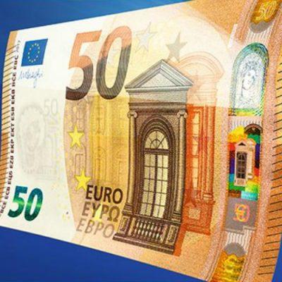 BCE a dezvăluit noua bancnotă de 50 de euro