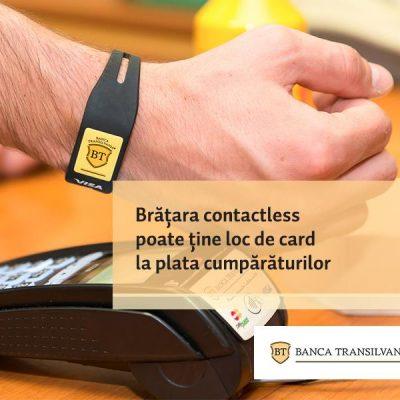 Premiera in Romania: Banca Transilvania lanseaza bratara contactless BT, care poate inlocui cardul la plata cumparaturilor