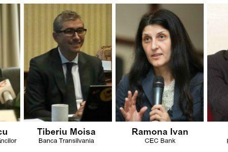 Patru bancheri de top analizează rolul băncilor în dezvoltarea afacerilor, la CCIR Business Center, pe 27 septembrie 2016