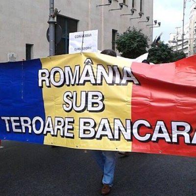 Marș pentru Legea Conversiei organizat de Grupul Clienților cu Credite în CHF. De ce nu mai au clienții încredere în BNR?