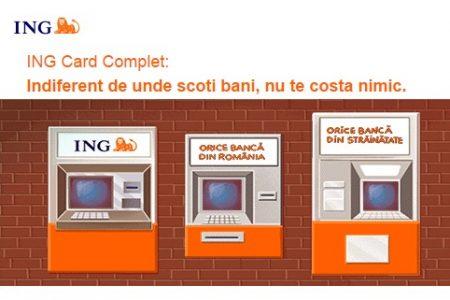 Din 5 iulie, ING Bank va elimina comisioanele de retragere bani cash de la bancomatele altor banci.