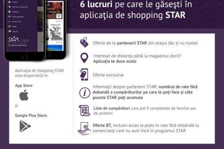 Banca Transilvania lansează aplicația de shopping STAR.card pentru clienții care au card de cumpărături STAR, emis de BT