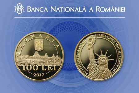 BNR lansează în circuitul numismatic o monedă din aur dedicată împlinirii a 20 de ani de parteneriat strategic România-SUA