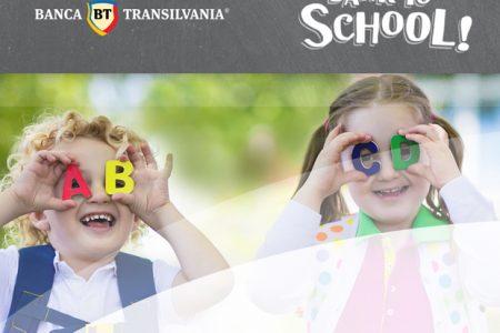 Banca Transilvania organizează o nouă campanie de shopping bancar online: Bank to School – pentru cei mari şi cei mici
