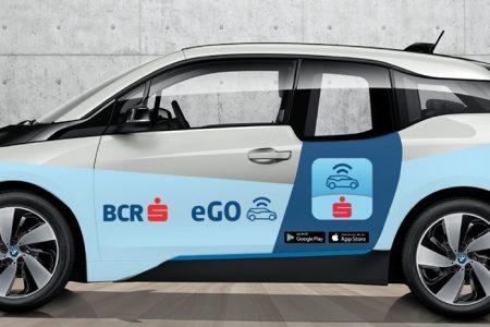 Car-sharing prin card bancar de la BCR. Clienții vor putea conduce mașini electrice, la un tarif de 0,4 lei per minut