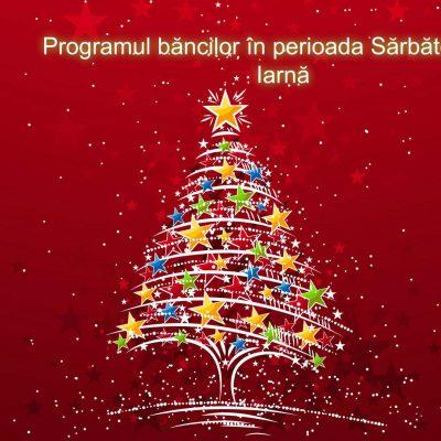 CRĂCIUNUL ÎNSEAMNĂ ȘI VACANȚĂ. Programul băncilor în perioada Sărbătorilor de Iarnă