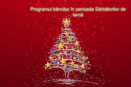 Programul unităților bancare în perioada Sărbătorilor de Iarnă