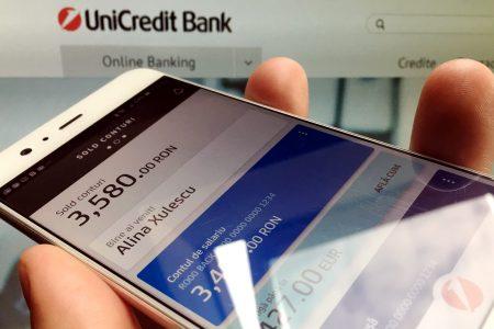 """UniCredit Bank, """"upgrade"""" pentru aplicația de Mobile Banking. Printre noutăţi regăsim portofelul electronic și activarea funcției Face ID recognition pentru telefoanele iPhone X"""