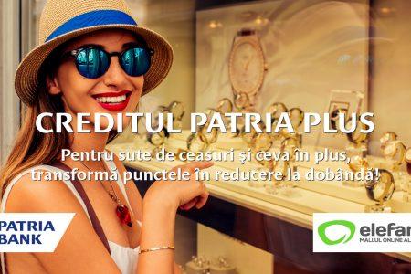 Parteneriat inedit: Patria Bank oferă reduceri la credite clienților elefant.ro