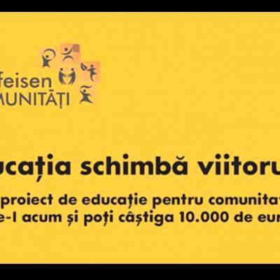 10 proiecte vor fi finantate prin programul Raiffeisen Comunitati cu cate un grant de 45.000 lei