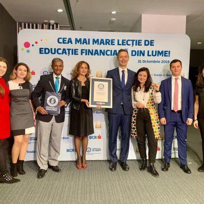 România a obținut titlul GUINNESS WORLD RECORDS pentru cea mai mare lecție de educație financiară din lume
