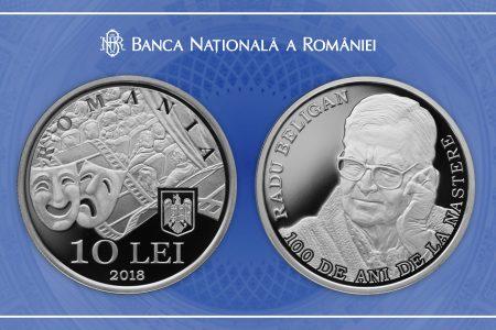 BNR a lansat o monedă din argint cu tema 100 de ani de la naşterea lui Radu Beligan