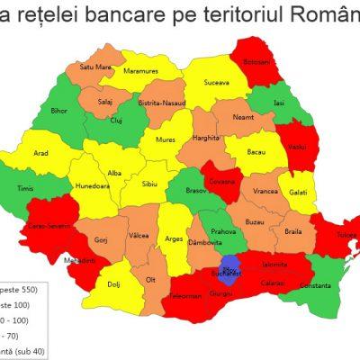Harta banking-ului românesc dezvăluie oglinda prosperității din România și discrepanțele majore dintre zone. 10 județe se zbat în uitare, neputință și sărăcie!