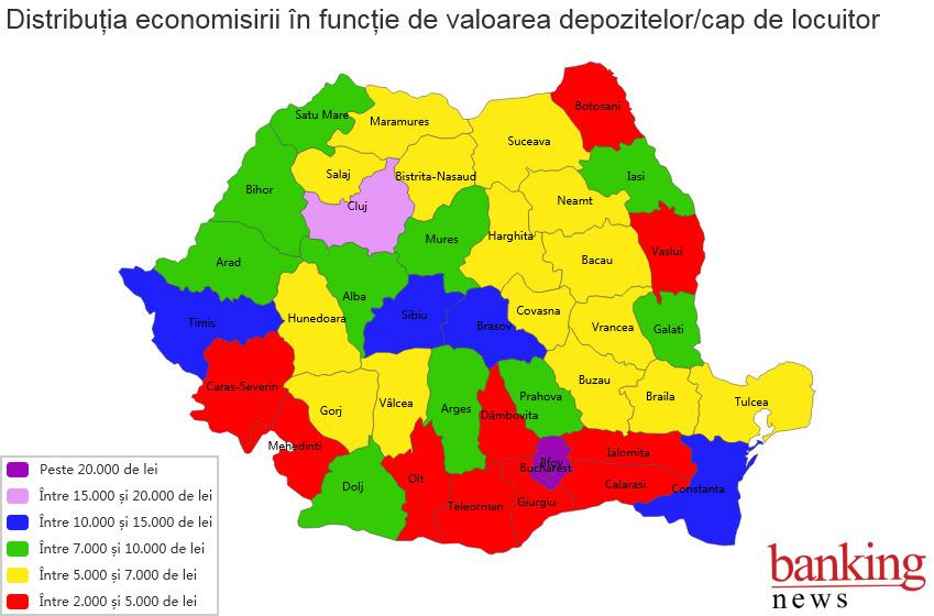 Harta Economisirii In Romania Depozitele Populației Din București