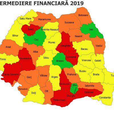 Harta creditării în România! Mai mult de jumătate de țară se află sub cod roșu sau portocaliu, cu intermedierea financiară la cote de alarmă
