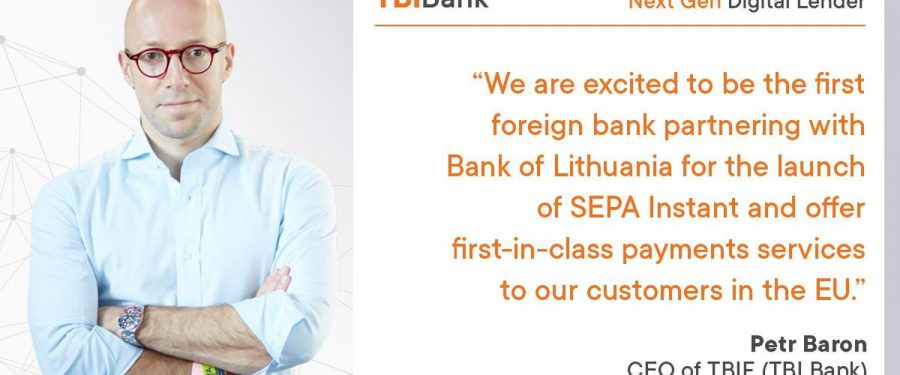TBI Bank lansează plățile instant, la orice oră. Banca a devenit primul partener internațional al Băncii Centrale a Lituaniei pentru lansarea SEPA Instant