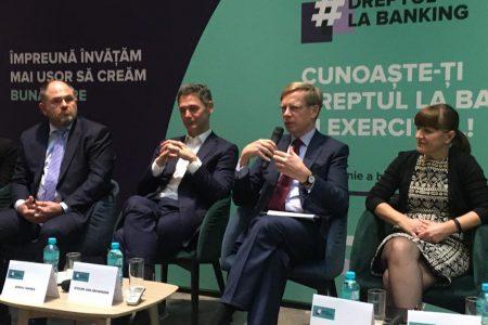 S-a dat startul la #DreptulLaBanking. Băncile din România vor să imbunătățească dialogul cu clienții, vorbind despre încrederea reciprocă dintre oameni și industria de profil