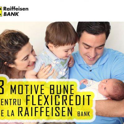 Raiffeisen Bank reduce dobânda la creditele de nevoi personale cu 2,5 puncte procentuale. Flexicredit online, în doar 10 minute
