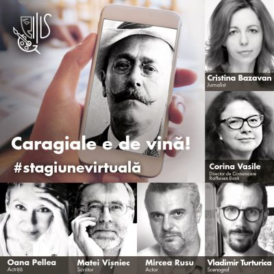 """Raiffeisen Art Proiect anunta o premieră cu Oana Pellea pe un text de Matei Vișniec -""""Caragiale e de vină!"""""""