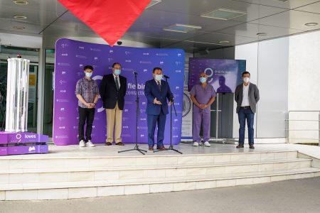 BCR continuă misiunea de a stimula inovația și donează Spitalului Universitar primul robot autonom de sterilizare realizat în România