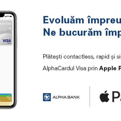 De astăzi, clienții Alpha Bank pot face plăți prin Apple Pay