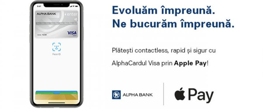 De astăzi, clienții Alpha Bank pot face plăți prin Apple Pay