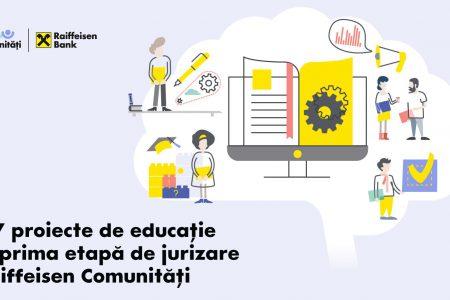 117 proiecte educaționale în cursa pentru 500.000 de lei finanțări nerambursabile în programul Raiffeisen Comunități
