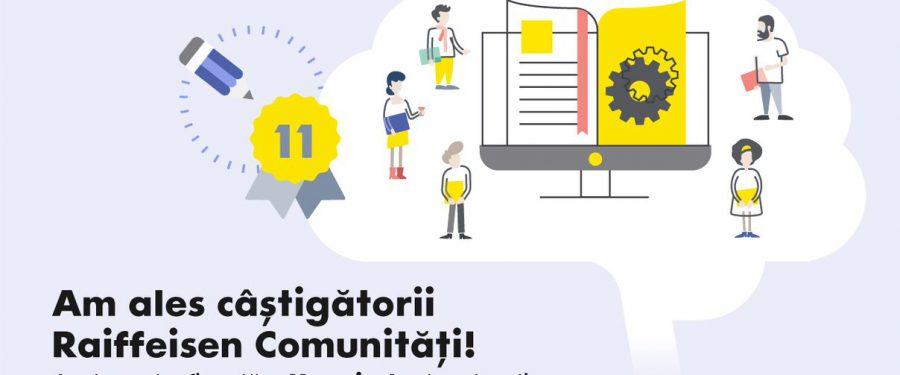 Programul Raiffeisen Comunităti și-a ales câștigătorii. Banca va finanța cele 11 proiecte cu 500.000 de lei