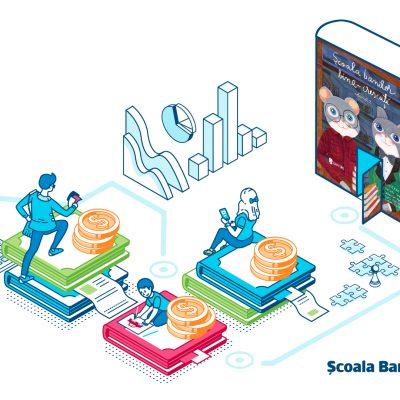 """Concurs marca BCR: """"Școala Banilor Bine-Crescuți"""". Cum poți câștiga cărți și ateliere gratuite de educație financiară pentru școala ta"""