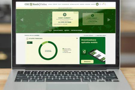 """CEC Bank lansează o versiune îmbunătățită a serviciului Internet Banking. Mugur Podaru: """"Lansarea noii platforme de Internet Banking este un pas necesar în direcția îmbunătățirii prezenței noastre digitale, în contextul pandemiei COVID-19"""""""