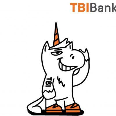 Tibi, mascota unicorn care vrea să iasă din tipare, se alătură echipei TBI Bank