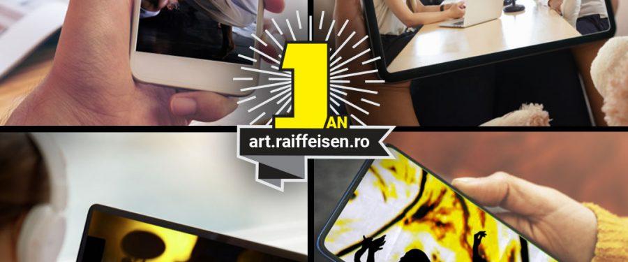 INFOGRAFIC. Platforma culturală online Raiffeisen Art Proiect – Stagiune Virtuală , la un an de la lansare: 20 de premiere absolute cu 250.000 de spectatori din România și alte 10 țări