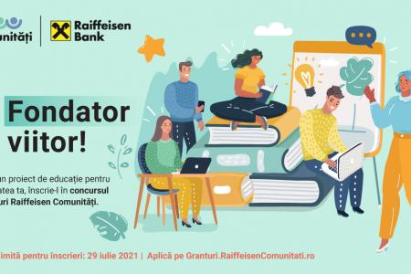 Raiffeisen Bank a lansat o nouă ediție a concursului de granturi Raiffeisen Comunități, care presupune finanțări nerambursabile de 500.000 de lei pentru 10 proiecte educaționale