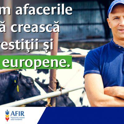Vești bune pentru afacerile din comunitățile rurale: Patria Bank și Agenția pentru Finanțarea Investițiilor Rurale (AFIR) anunță semnarea unui acord de sprijinire a procesului de absorbție al fondurilor europene pentru finanțarea fermierilor și investitorilor din mediul rural